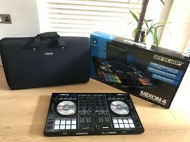 Reloop Mixon 4 DJ Controller + Magma CTRL Carrying Case & Original Box