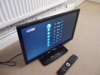 Logic 22 inch HD ready 1080p LED with built in DVD player