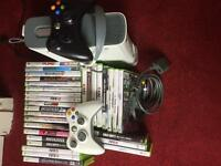 Xbox 360 60gb with Wifi Adaptor + Games