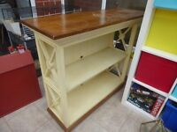 Solid Wood Bookshelf / unit. Good shabby chic project