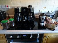 Morphy Richards Coffee Machine, Filter Coffee, Espresso / Cappuccino and Milk Frother. + Grinder