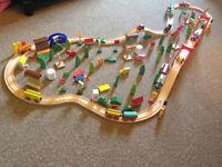 Wooden train set/ city