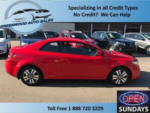 2013 Kia Forte Koup 2.0L EX, AC,CRUISE,HANDS FREE.....FINANCE NO