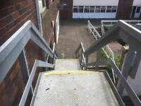 Galv fire escape steps or staircase