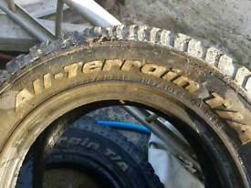 2 x bf Goodrich all terrain tyres 235/70/r16