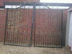 Steal drive way gates