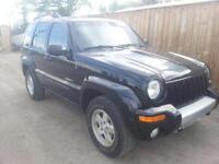 2004 jeep liberty limited leather loaded sunroof auto 4x4