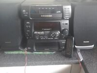 A Panasonic 5cd changer tape deck radio great condition £15