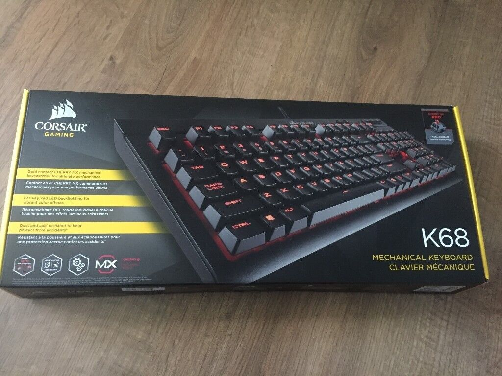 8dfc40aa492 Corsair K68 Mechanical Gaming keyboard Cherry MX Red | in Slough ...