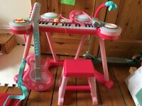 Children's keyboard and Guitar