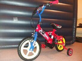 Sonic SON025 Boy's Kap-Pow Bike, 12 inch Wheels - Red/Blue