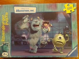 Ravensburger Disney Pixar Monsters, Inc: Sully, Mike & Boo (100-Piece) Puzzle