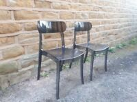 Pair / Set of 2 Smoked Grey Transparent Ghost Chairs Stackable Smokey Kartell Louis Style Dining