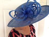 Wedding/ Occasion Hat in corn flower blue