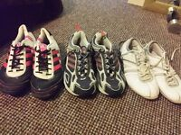 Aadies x4 pairs trainers. All size 6