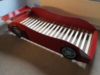 Childs Ferrari style Car Bed, with Spoiler! 1 careful owner, full service history