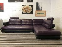 Designer Real leather Italian stallion Large corner sofa