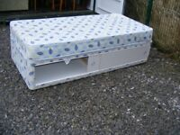 CAN DELIVER - SINGLE DIVAN BED WITH MATTRESS AND LARGE DRAWER IN VERY GOOD CONDITION