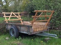 Old style hay trailer