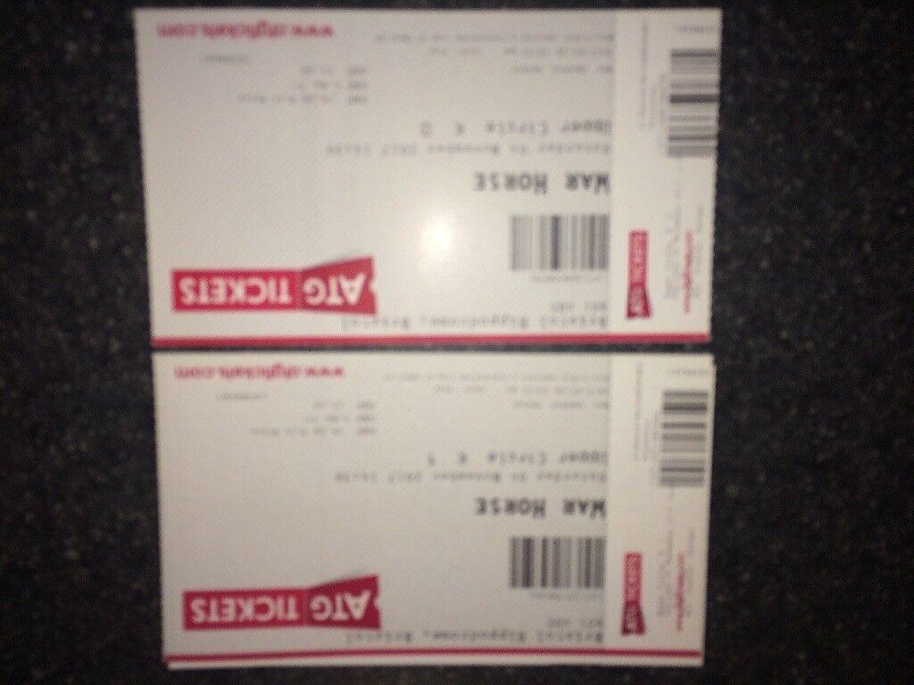 2 x war horse tickets Bristol hippodrome