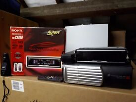 Sony car cd head unit and 10 disc cd player