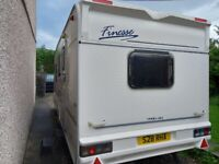 Sterling Finesse 4 berth family caravan with awning