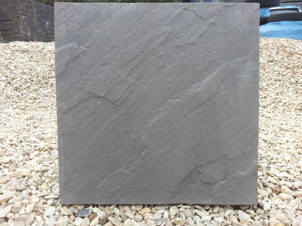 Concrete Paving Patio Slabs In Charcoal 450x450 In