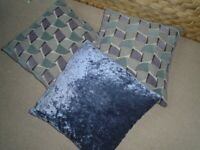 "3 x Cushions - Double sided 16""x16"" Excellent Condition"
