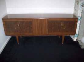 Beautility Sideboard 1960's Walnut Cocktail Bar Formica Retro / Vintage