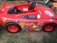 Rare 12v Disney lightning McQueen power wheels car