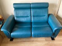 Ekornes Stressless leather 2 seater sofa x2