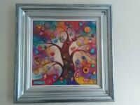 Kerry Darlington Limited Edition 3D Resin Art Work - Rainbow Tree