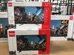RCA LED TV 24 IN 1080P LED TV - $110  32 IN 1080P LED TV - $125 RCA 40 IN $230, 50 IN 4K LED $370, 55 INCH 4K LED $430