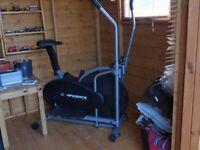 exercise bike/ cross trainer. exellent condition, hardley used