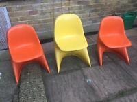 Retro vintage kids chairs