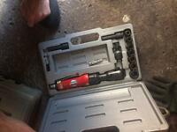 Tool box with tools an air ratchet set