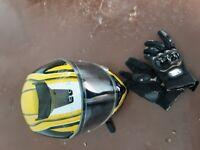 Motorbike Helmet & Gloves