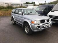 2007 Mitsubishi jeep 4x4 driving great trade sale at £2800 j&ft&v mallusk