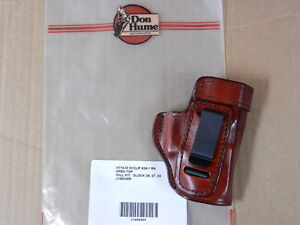 DON HUME H715 ITW HOLSTER  for  GLOCK  26, 27, 33   RH  BROWN