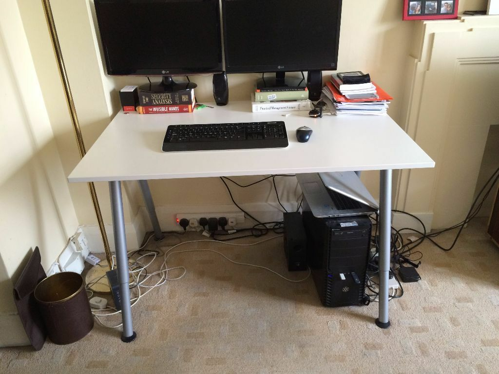 ikea desk galant thyge white 120 x 80cm in