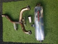 Remus Revolution Exhaust off BMW R1150GS with Y piece De-Cat