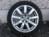 17INCH 5/112 AUDI VW SEAT SKODA ALLOY WHEELS WITH TYRES FIT MOST MODELS