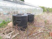 water harvest 1200L storage tanks greenhouse garden diy
