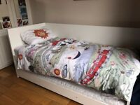 Ikea Flaxa Single bed with pull out underbed - White