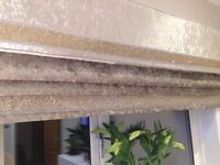 Pelmets in silver or champagne crushed velvet. Xmas offer FIVE beautiful pelmets for £300.00.