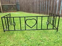 Steel grave surround personalised for your loved one