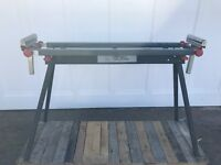 Folding mitre saw table bench