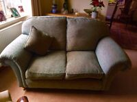 Pale Green Two Seater Sofa - Excellent Condition