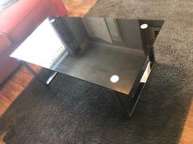Coffee Table - smoked glass and chrome