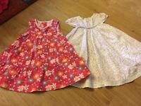 2 summer dresses 9-12 month